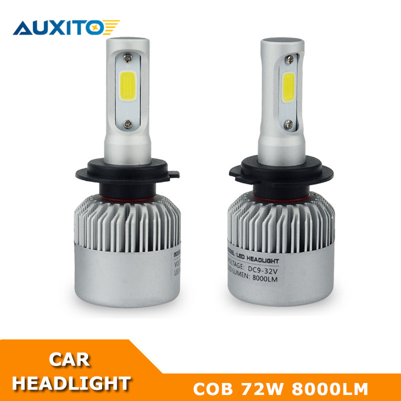 H1 H4 H7 H13 H8 H11 9004 9005 9006 9007 9012 COB LED Car Headlight Headlamp Fog Light For Toyota Honda Nissan Mazda Mitsubishi