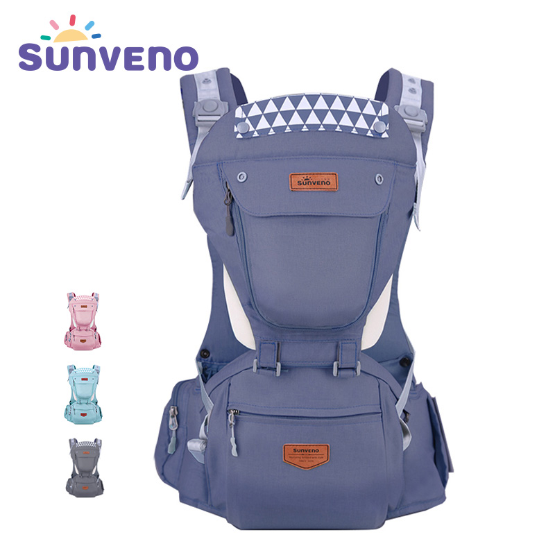 Sunveno New Baby Carriers Ergonomic Baby Carrier Coat Backpack Carrier Stool Hipseat For Newborn Kangaroo Baby Sling 20kg Heaps 2016 hot portable baby carrier re hold infant backpack kangaroo toddler sling mochila portabebe baby suspenders for newborn