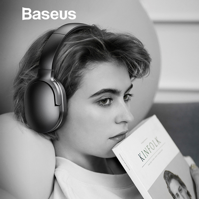 f336ee56479 Baseus D02 Bluetooth Headphone Portable Wireless Headset Adjustable  Earphones With Microphone for PC Phone Stereo Earphone free shipping  worldwide