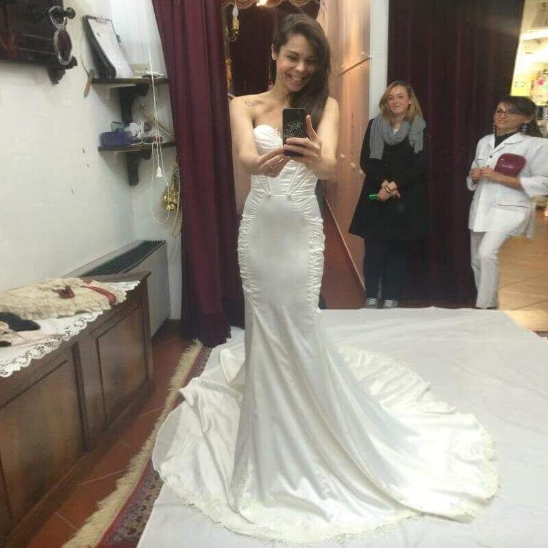 Custom Made Silk Taffeta Mermaid Wedding Dresses Vestidos