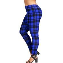 Plus Size Plaid Two Tone Women Pants