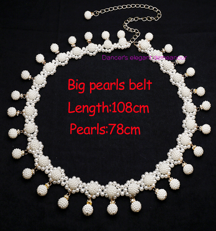 NEW ARRIVAL! Belly Dance Accessories Sexy Master Belly Dance Belt Women PEARL Belly Dance Hip Scarf