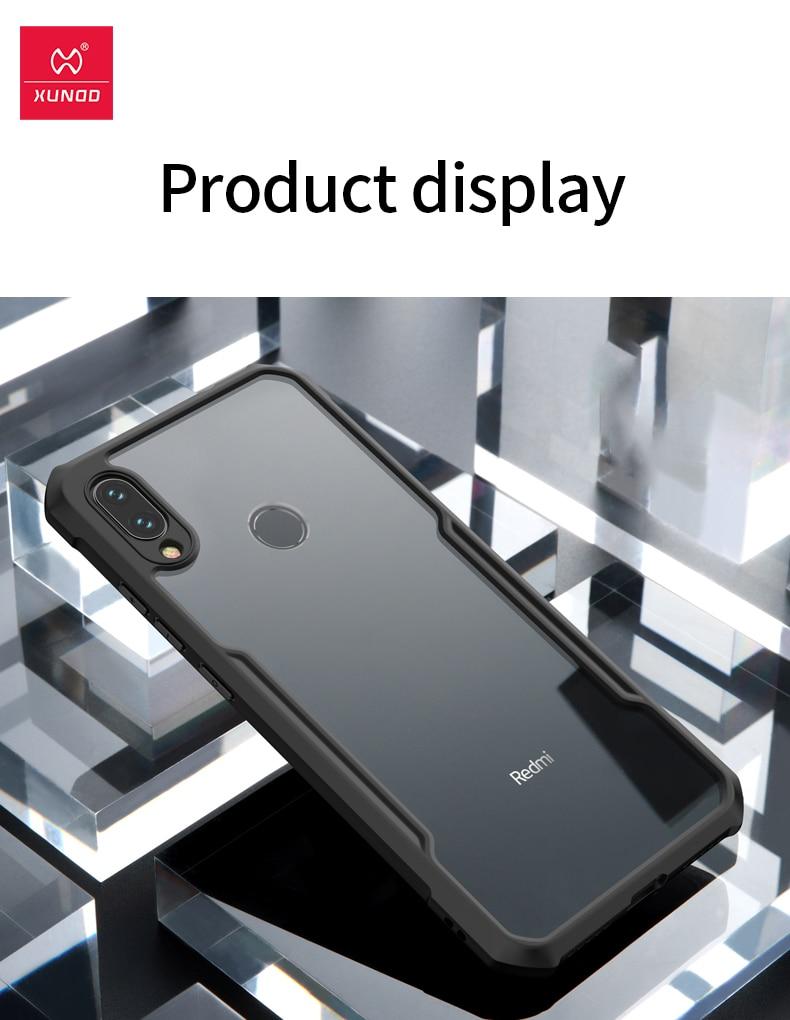 HTB132P0e21H3KVjSZFHq6zKppXaT For Xiaomi Redmi Note 7 7 cc9 Pro Transparent Acrylic+TPU XUNDD Phone case for xiaomi K20 Pro Mi 9T Pro Ring Protective cover