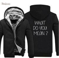 What Do You Mean Justin Bieber Hoodies Sweatshirt Men 2018 Hot Sale Winter Warm Plus Size Hoodie 5XL Letter Print Sportwear Male