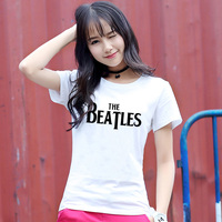 High Quality The Beatles Summer 2017 T Shirt Women Casual Fashion Punk Rock Top Tee Letter