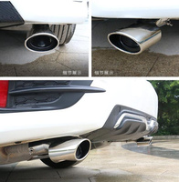 Free Shipping High Quality Stainless Steel 2pcs Muffler Exhaust Pipe Cap With Logo For Honda Civic