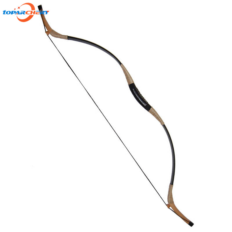 30lbs 35lbs Traditional Archery Hunting Shooting Pigskin Recurve Bow Wooden Long Bow with Draw Length 32'' for Outdoor Sports 35lbs long bow archery hunting black color for adults archery game traditional wooden made hunting bow 1pc