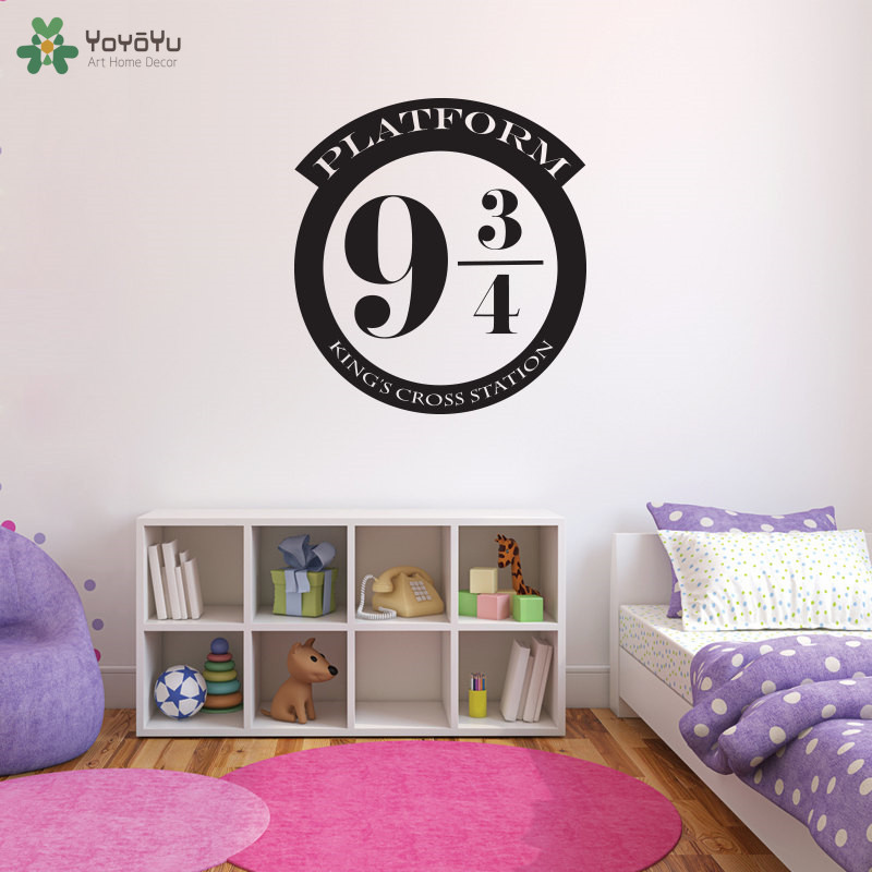 Harry Potter Bedroom Decor: Platform 9 3/4 Wall Sticker Harry Potter Wall Decal