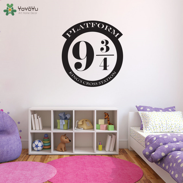 Platform 9 3/4 Wall Sticker Harry Potter Wall Decal Special Design Modern  Kids Room