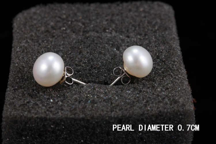 Trendy Charmante Schmuck Zubehör Süßwasser Perle Frau Ohrringe Farbe Weiß Rosa Lila EAR-0519