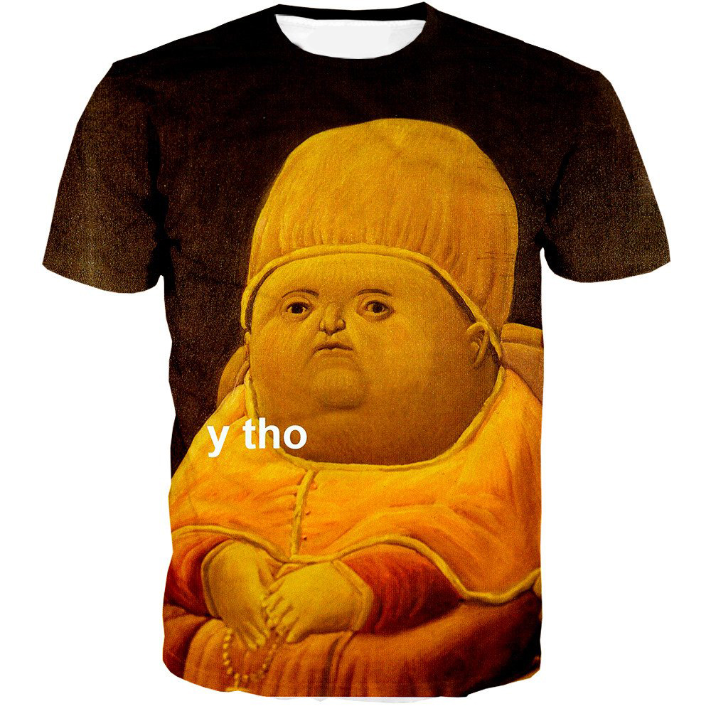 Y Tho Buddhist monk Prints 3D t-shirt Harajuku Men women Summer Fashion Classic Art painting Short sleeve Leisure shirt CTE-225