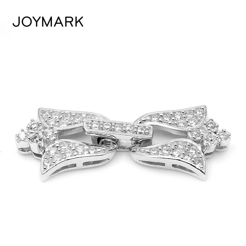 35x14mm Morning Glory Flower 925 Sterling Silver CZ Zircon Lock Clasps Connectors For Fine Jewellery Bracelet Necklace SC-CZ078 цена