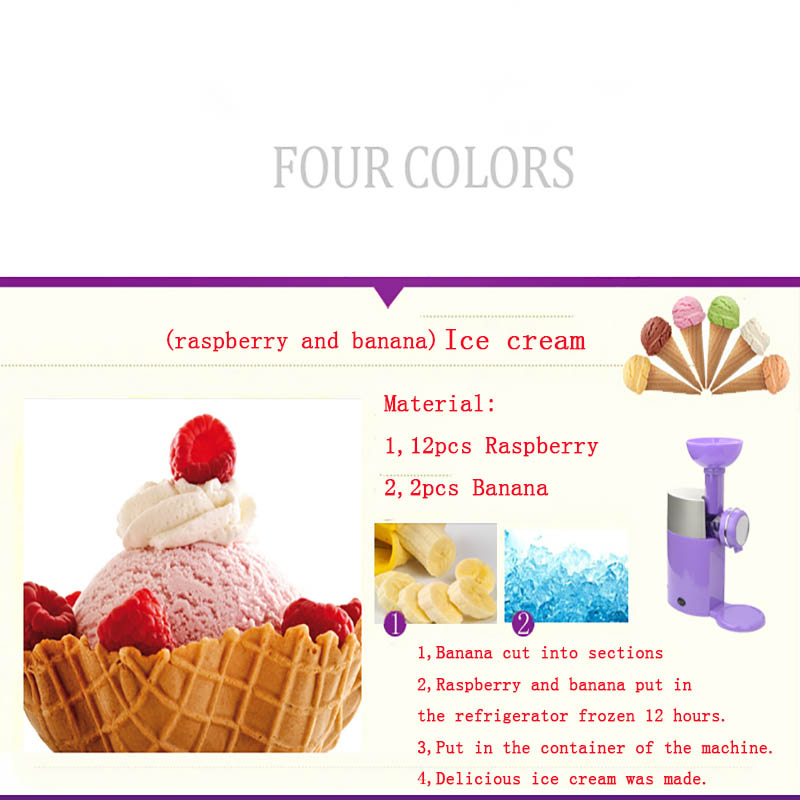 Fruit ice cream machine household electric homemade ice cream DIY children  machine shaved ice machine Frozen Fruit Dessert Maker-in Abrasive Tools  from ...