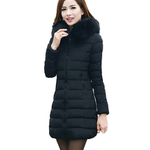 New Fake Fur Collar Parka Down Cotton Jacket 2017 Winter Jacket Women Thick Snow Wear Coat Lady Clothing Female Jackets Parkas