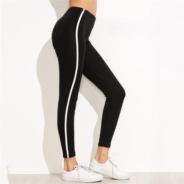 Casual Leggings Sport Leggings Fitness Breathable Black Jeggings Activewear Stretch Slim Pants Women Leggings Workout Trousers 3