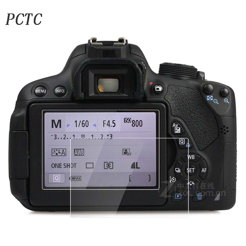 PCTC For 700D 750D 760D 0 3mm Camera Tempered Optical Glass HD LCD Ultra thin 9H