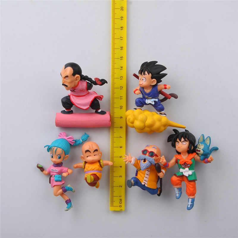 Dragon ball Аниме Фигурка магниты на холодильник Аниме Фигурка Сон Гоку Чичи Улун игрушки wukong Garage наборы Decora
