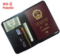 MRF6 RFID BLOCKING leather passport wallet + top grain genuine cow Leather + leather passport cover+ RFID protection mens wallet
