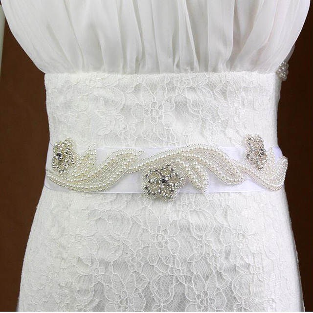 ZXW13 2016 Crystal Wedding Belts Real Samples Satin Rhinestones Beading Pearls Bridal Ribbons Sashes Wedding Accessories