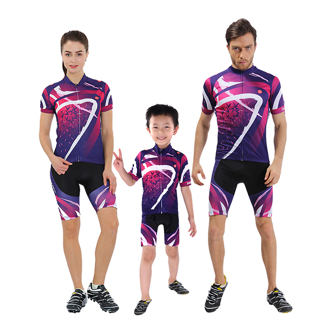 Family 2018 Pro Team Men Cycling Jersey Set Short Sleeve Mtb Mountain Bike  Clothing Women Bicycle Wear Children Cycling Clothes 67c00b186