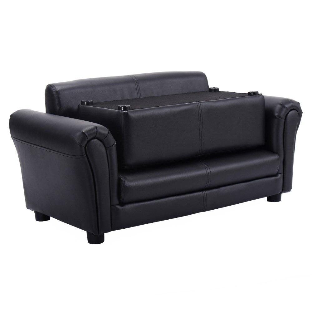 Sofas Para Ninos, Sillones Infantiles Muebles Para Ninos 83x42x21cm Con Escabel (Blanco) HW54199BK