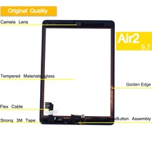 10Pcs/lot Original For Apple iPad Air 2 Air2 Touch Screen Digitizer For ipad 6 A1567 A1566 Touchscreen Touch Panel Front Glass цены онлайн