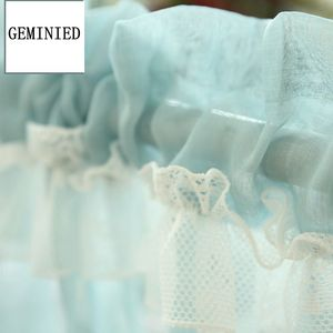 Image 5 - Short Tulle Curtains for Kitchen Finished White Floating Tulle Sheer Yarn Curtain Rod Pocket for Cabinets Short Curtain for Cafe