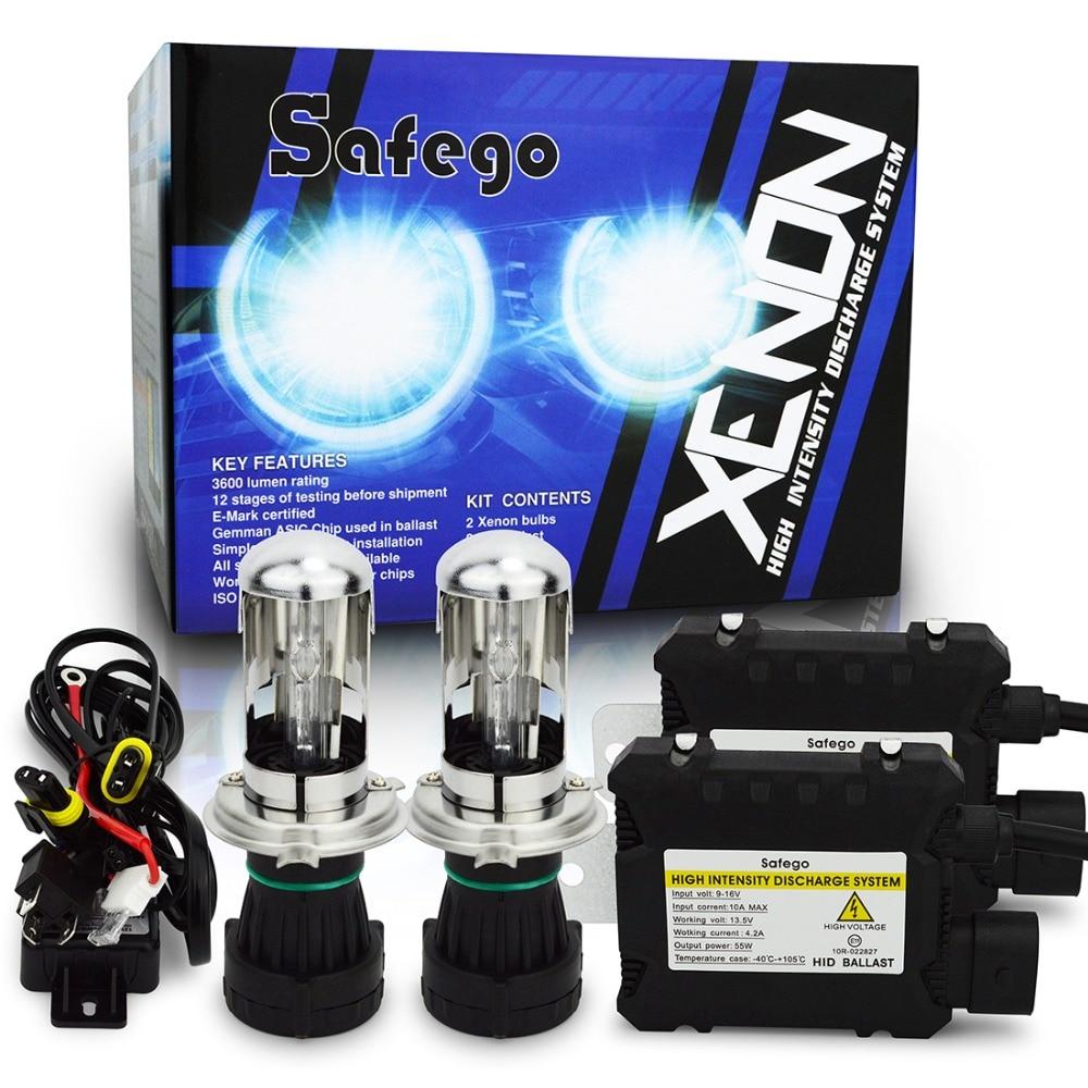 1set bixenon h4 kit 55W DC H4 HID Bixenon Hilo Conversion Headlight Kit 4300 6000K 8000K