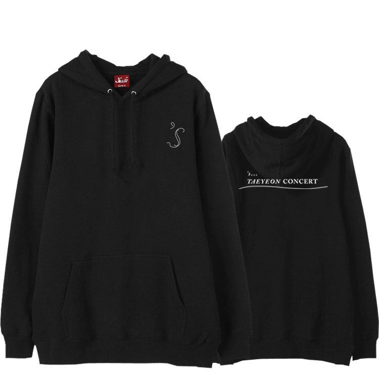 Hoodies & Sweatshirts Learned Got7 4 Years Anniversary Concert Same Printing Black Fleece Hoodies For Kpop I Got7 Unisex Autumn Winter Loose Sweatshirt