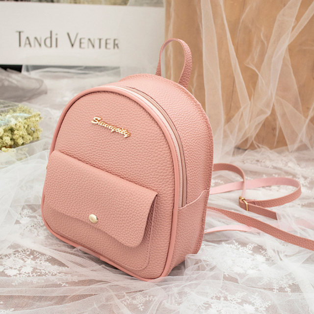 Multi-Functional PU Leather Women's Backpack