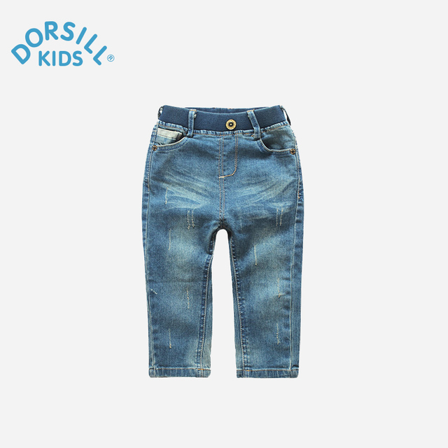 Dorsill New Fashion Children's pants Spring and Autumn Casual Solid Boys Fashion Jeans blue for girls