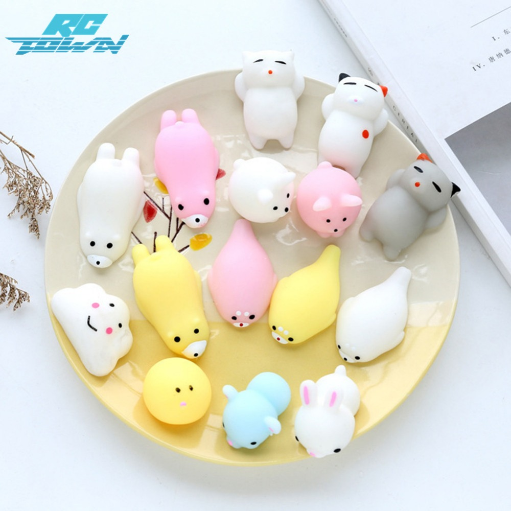 RCtown Mochi Mini Squishy Animals Toy Random Squishies for Collection Gift, Decorative Props or Stress Relief zk30
