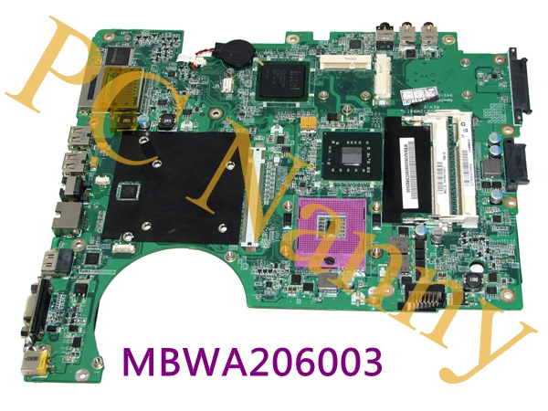 Genuine For Gateway MD73 Series Intel Motherboard MBWA206003 DA0AJ2MB6E0 without Graphics slot genuine battery for gateway li4405a