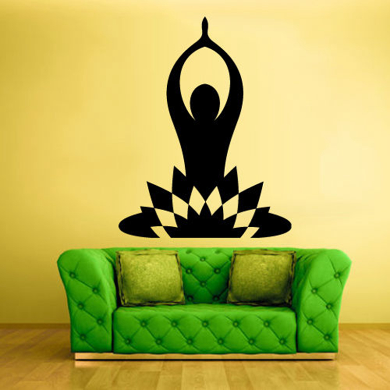 Yoga Sticke Decal Body building Posters Vinyl Wall Decals Pegatina ...