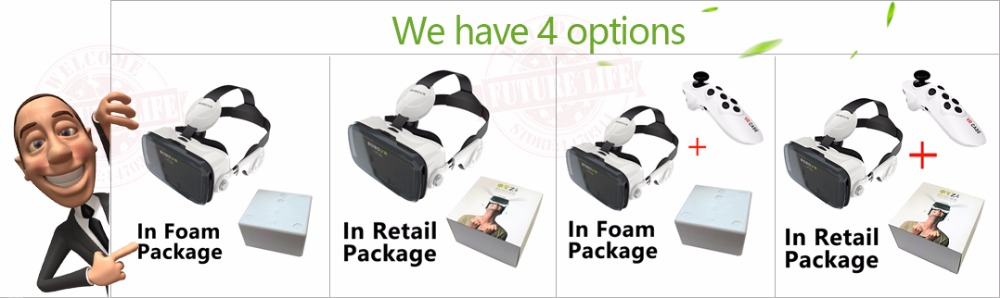 Virtual Reality Google Cardboard VR BOX Original bobovr Z4/ Z4 Mini 3D glasses+Bluetooth Controller for 4-6' Smart Mobile Phone 5