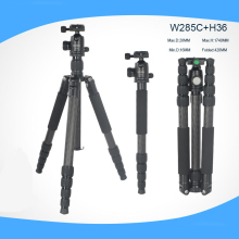 Professional Carbon Fiber Tripod Monopod Portable Flexible Tripod 360 Rotation Tripe Ball Head For SLR Camera