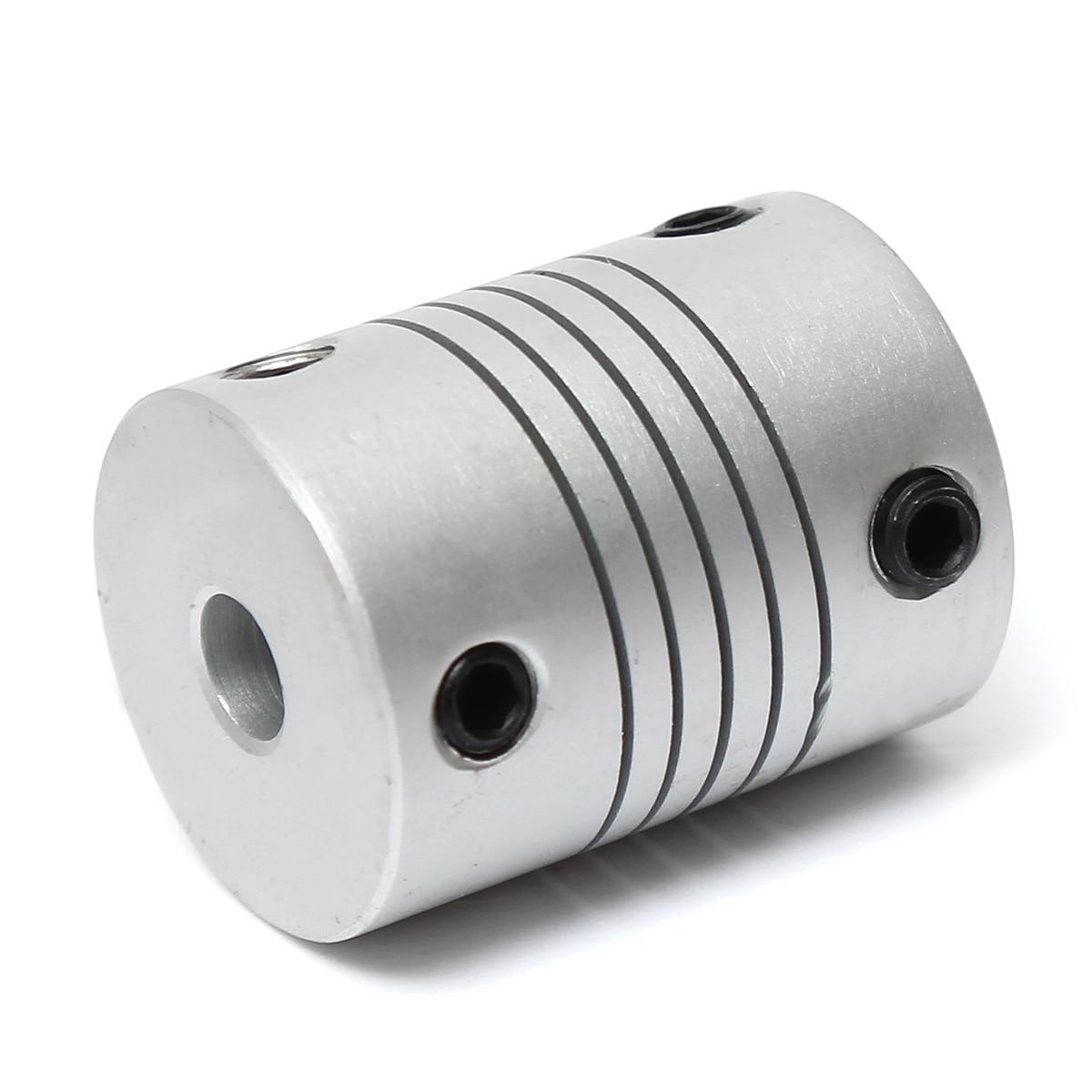 Fevas 4mm x 6mm Aluminum Flexible Shaft Coupling OD19mm x L25mm CNC Stepper Motor Coupler Connector New