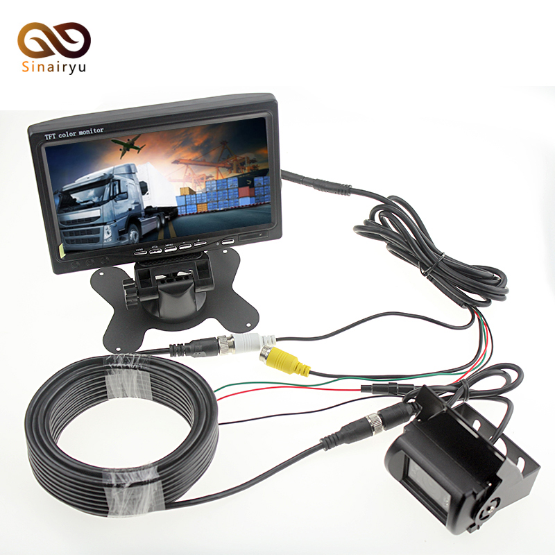Truck Vehicle Backup Camera Bus Truck Parking System Car Monitor 7 Inch 800*480 Color TFT LCD Car Rear View Rearview Monitor