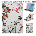 360 Degree Rotating PU Leather Flip Folio Swivel Stand Smart Case Cover For Samsung Galaxy Tab A 9.7 inch SM-T550 Tablet