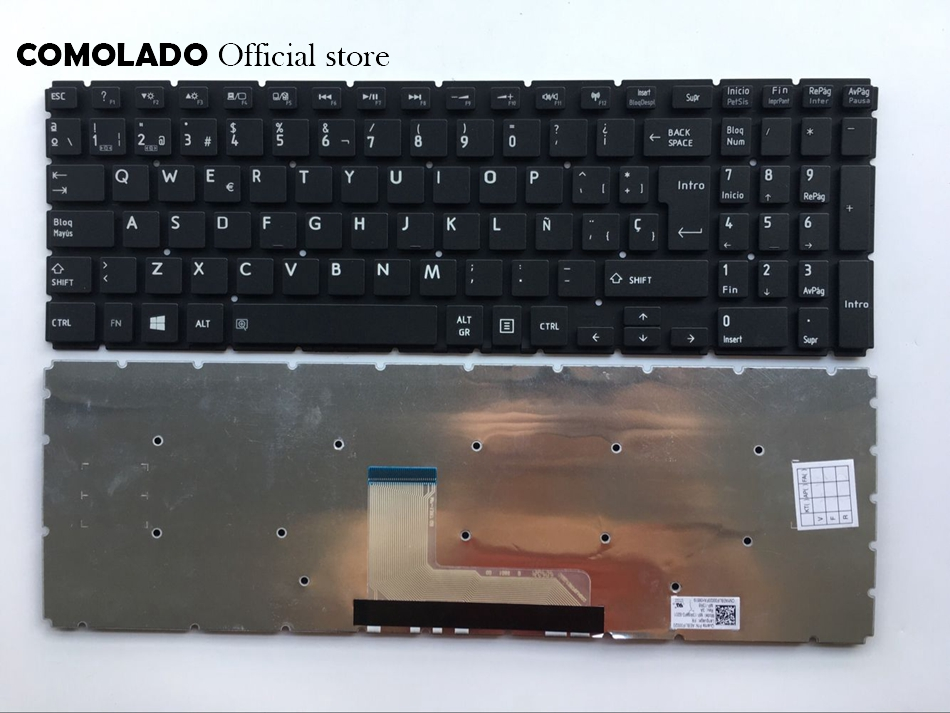 SP Spanish keyboard For Toshiba Satellite L50-B S50-B L50D-B L50T-B L50DT-B L55(D)-B S55-B S55T-B S55D-B black keyboard SP Layout