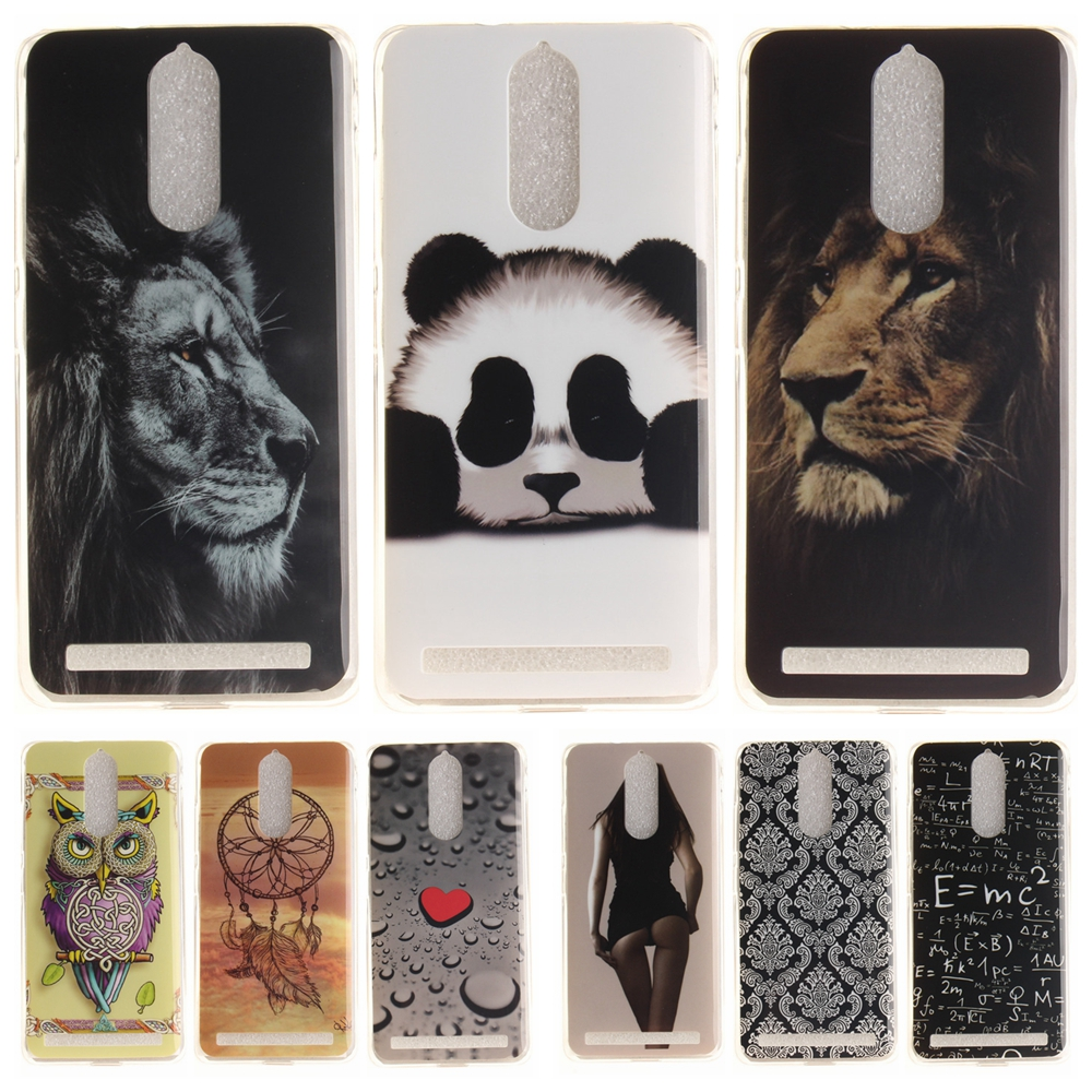 Cartoon <font><b>Phone</b></font> <font><b>Case</b></font> for Coque Lenovo Vibe K5 Note Soft Silicone Cover for Lenovo K5Note K52t38 <font><b>Panda</b></font> Tiger Lion TPU Back <font><b>Cases</b></font>