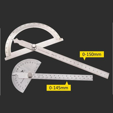 2pcs/1set Stainless Steel Measuring Ruler 180 degree Protractor angle finder Digital Ruler Rotary Measuring Machinist Tool