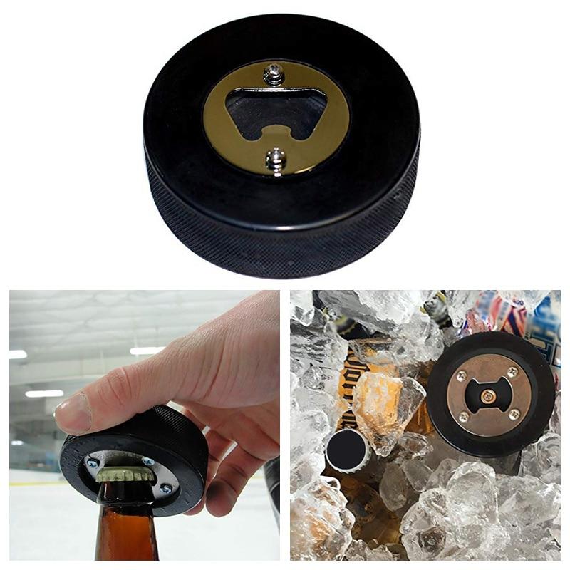 Portable Round Blank Sher Wood Hockey Puck Bottle Opener  Kitchen Tools Gadgets Multifunctional Beer Bottle Opener Accessories