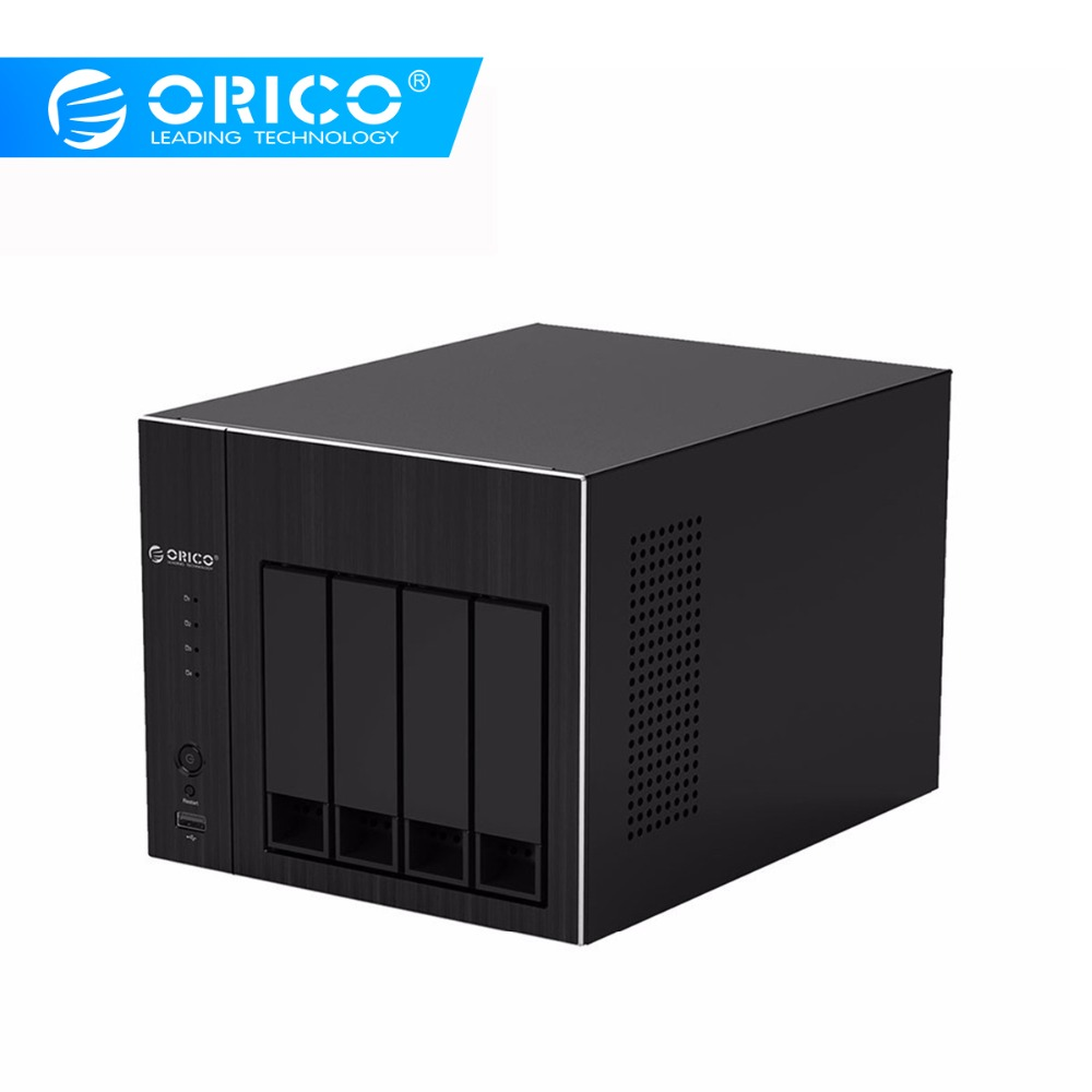 ORICO 2.5 Inch 3.5 Inch 4 Bays Hard Disk Drive Storage Box Enclosure Tool Free NAS 4-Bay HDD Docking Station Case For Laptop PC