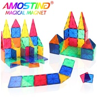 32PCS Magnetic Blocks Building Set Magnet Tiles Designer Educational Construction Toys For Children Kids Clear