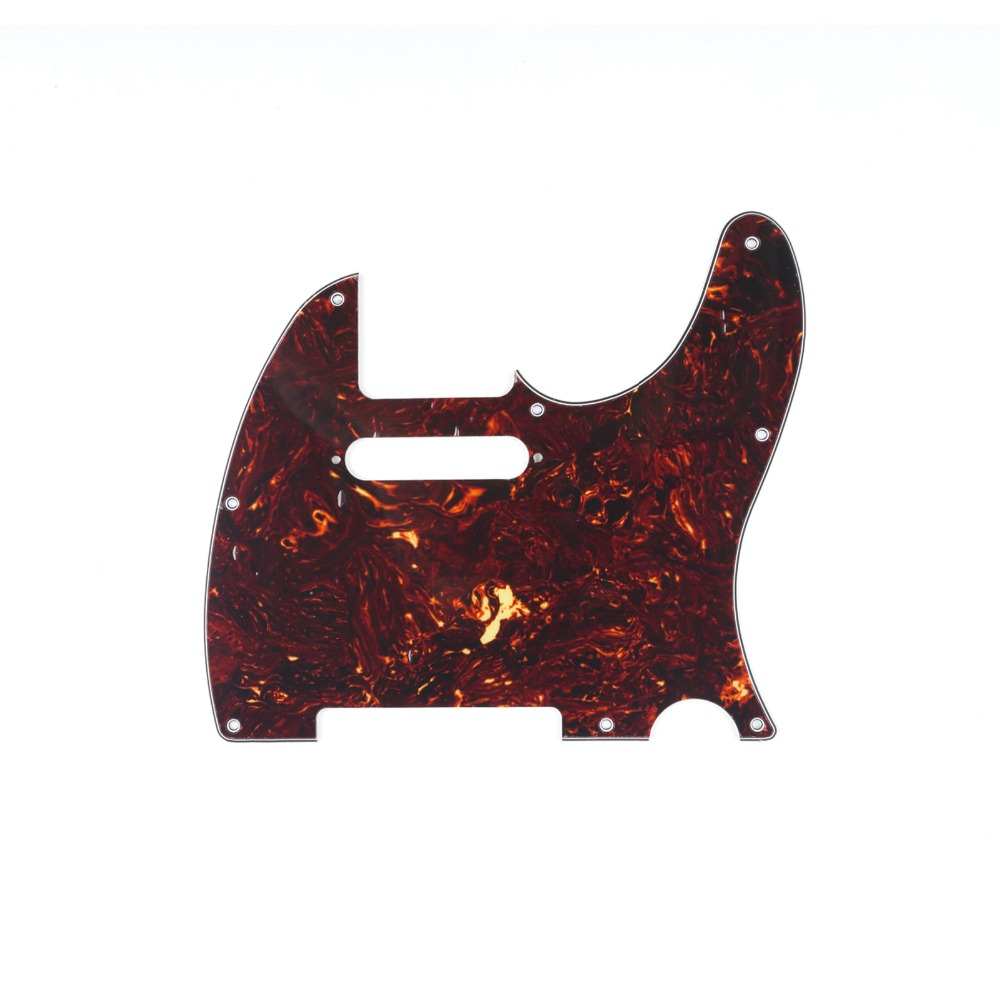 Musiclily 4Ply 8 Holes Electric Guitar Pickguard Pick Guards Scratch Plate for Fender Standard Tele Telecaster TL Guitar Parts musiclily 4ply sss pickguard for fender standard stratocaster strat st guitar