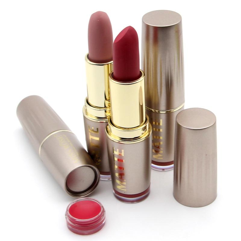24PCS/LOT Miss Rose Matte Lipstick Waterproof Makeup Lip Matte Lip Stick Cosmetics Sexy Red Lip Tint Nude Lipstick Matte Batom-in Lipstick from Beauty & Health    3