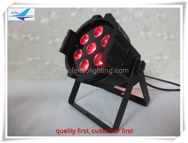 T-Free shipping 20 pieces pro lighting DMX 512 Sound active 6in1 7x18w rgbaw uv led par light pro svet light psl led uv 18 dmx