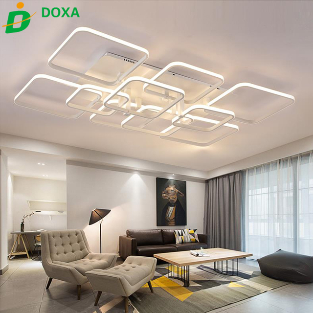 chaude 110 250 v gradation en aluminium led plafonnier. Black Bedroom Furniture Sets. Home Design Ideas