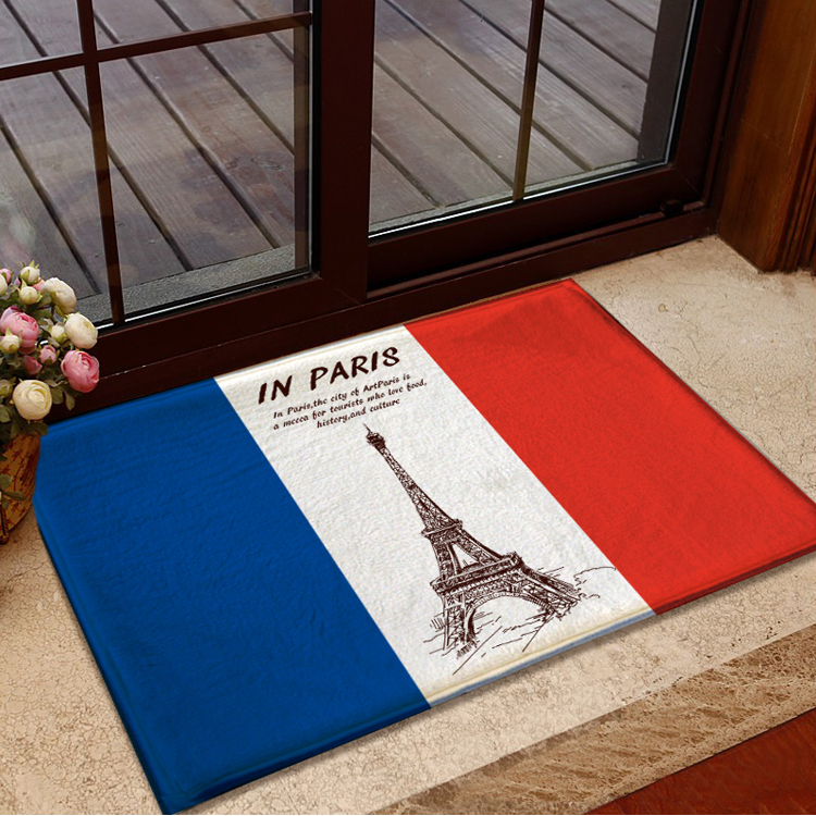 CarPet Family Solid Color Door Mat Home Door Mat Hotel Hotel Polyester Material Color : Light Blue, Size : 4060cm